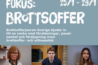 Brottsofferjouren Sverige bjuder in till Fokus: Brottsoffer